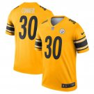 Mens Steelers 30# James Conner Color Rush Football Jersey Yellow