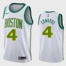 Men's Boston Celtics Carsen Edwards #4 White Jersey 2019 City Edition
