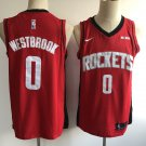 Men's Houston Rockets Russell Westbrook #0 Red Stitched Jersey