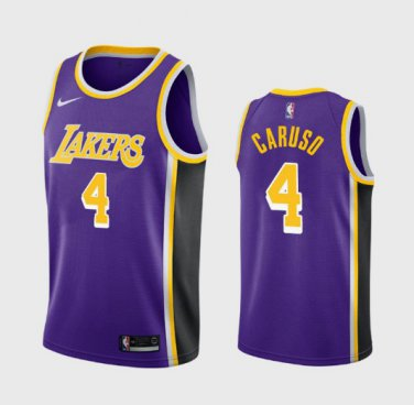 Men's Los Angeles Lakers #4 Alex Caruso Statement Jersey Purple ...