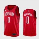 Men's Houston Rockets Russell Westbrook #0 Red Earned Jersey