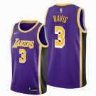 Youth Los Angeles Lakers #3 Anthony Davis Stitched Jersey Purple