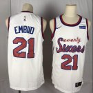 Men's 76ers #21 Joel Embiid Basketball Jersey White Throwback New
