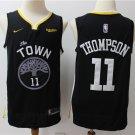 Men's Golden State Warriors #11 Klay Thompson Jersey Black New