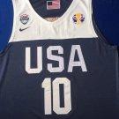 Men's World Cup USA Team #10 Kobe Bryant Jersey Navy Blue