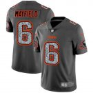 Mens Browns 6# Baker Mayfield Limited Jersey Gray New