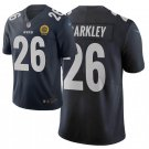 Mens Giants #26 Saquon Barkley Limited Jersey Blue City 2019 Black