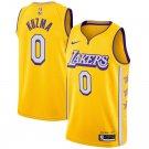 Men's Los Angeles Lakers #0 Kyle Kuzma Basketball City Jersey Yellow