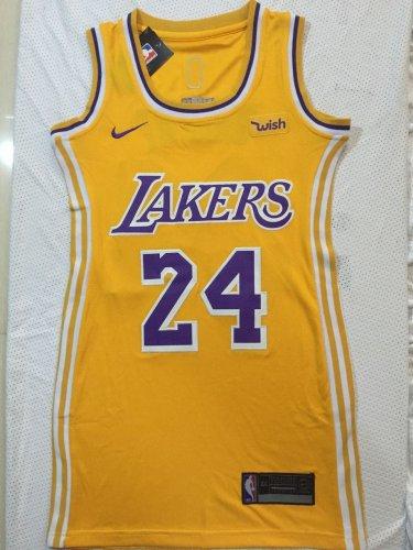 Womens Lakers #24 Kobe Bryant Basketball Jersey Yellow NBA