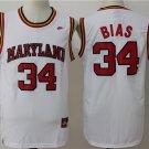 Men's Maryland #34 Len Bias White College Basketball Jersey