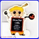 RARE 1 left - Sticker (L) Made Japan - Porco Menu Board Mugiwara Boushi Straw Hat Cafe Ghibli Museum