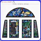RARE 2 left - Greeting Card Stained Glass-like Made Japan Jiji Kiki's Delivery Service Ghibli Museum