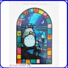 RARE 2 left - Greeting Card Stained Glass like - Made in Japan Mei Satsuki Chu Totoro Ghibli Museum