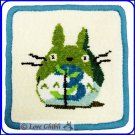 RARE 1 left - Coaster - Chenille Weaving - 3 March - Totoro - Ghibli Museum - card & bag