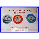 RARE 1 left - 3 Pin Badge - Chibi White Blue Totoro Ponyo Ootori sama Spirited Away - Ghibli Museum