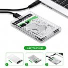 Hard Drive USB 3.0 SATA External 2.5 inch HDD SSD Enclosure Box Transparent Case