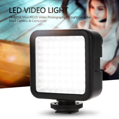 Mini 49LED 800LM Video Light Dimmable Photo Studio Lamp for Digital Camera Phone