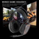 Wired Gaming Headphones USB 7.1 Surround Sound Headset with Mic for Computer