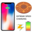 Glowing Magic Array Qi Wireless Fast Charger Pad 5/10W for iPhone Samsung Huawei