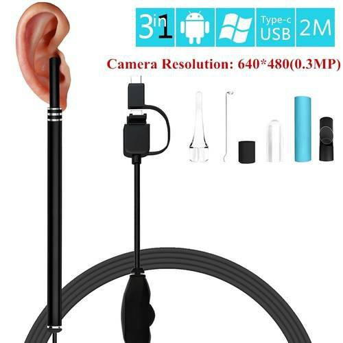 LED Digital USB Otoscope Ear Scope Inspection Camera Earwax Cleansing Android/PC
