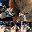 3Pcs Women Hair Scrunchies Knotted Pearl Ropes Elastic Hair Band Ponytail Holder Ties