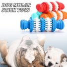 Dog Molar Stick Toys Can Put Snacks Rubber Gear Rotation Chew Stuffs  Food Teeth Cleaning Stick Blue
