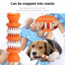 Dog Molar Stick Toys Can Put Snacks Rubber  Rotation Chew Stuffs  Food Teeth Cleaning Stick Orange
