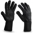 Household Gloves Microwave Oven High Temperature Baking Flame Retardant Gloves 1pc Black