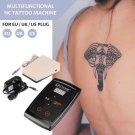 Aluminum Rotary Tattoo Machine Grip Tattoo Complete Kit Tattoo Needle Tip UK Plug