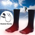 Chargable Battery Electric Heated Socks Boot Feet Warmer Winter Outdoor