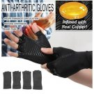 Half Finger Gloves Anti Arthritis Copper Pain Relief Glove Hand Protection Training Protector Size S
