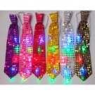 Colroful LED Flashing Light Up LED Bow Tie Necktie Party Sequins Wedding Color: Random
