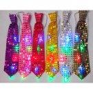 5 Pcs Colroful LED Flashing Light Up LED Bow Tie Necktie Party Sequins Wedding  Color Random