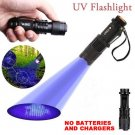 UV LED Outdoor 365nm Torch New UV Flashlight SK68 Purple Violet Light Black