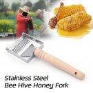 Stainless Steel Bee Hive Honey Fork Beekeeping Equipment Uncapping Fork Beekeeping Tools Set