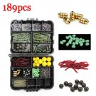 Fishing Accessories Tackle Hooks Box 189pcs/Set Lure Bait Case Tool Kit Fish