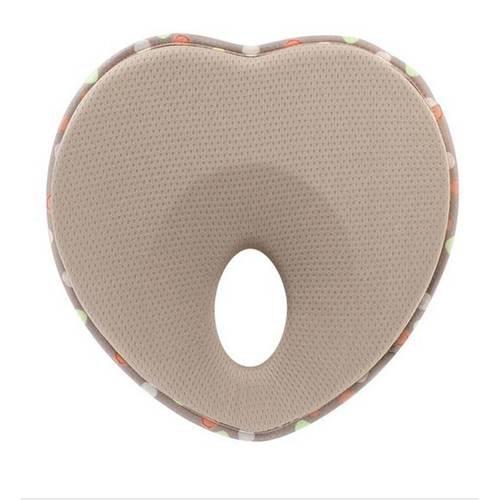 Baby Pillow Infant Sleep Positioner Anti Roll Cushion Flat Head Protection  Khaki