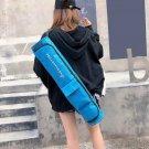 Women Men Portable Yoga Mat Bag Carrier Casual Shoulder Zipper Sport Bag Blue