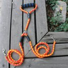 Double Dog Leash Braided Tangle Dual Leash Couple For Walking Training Two Dogs Yellow