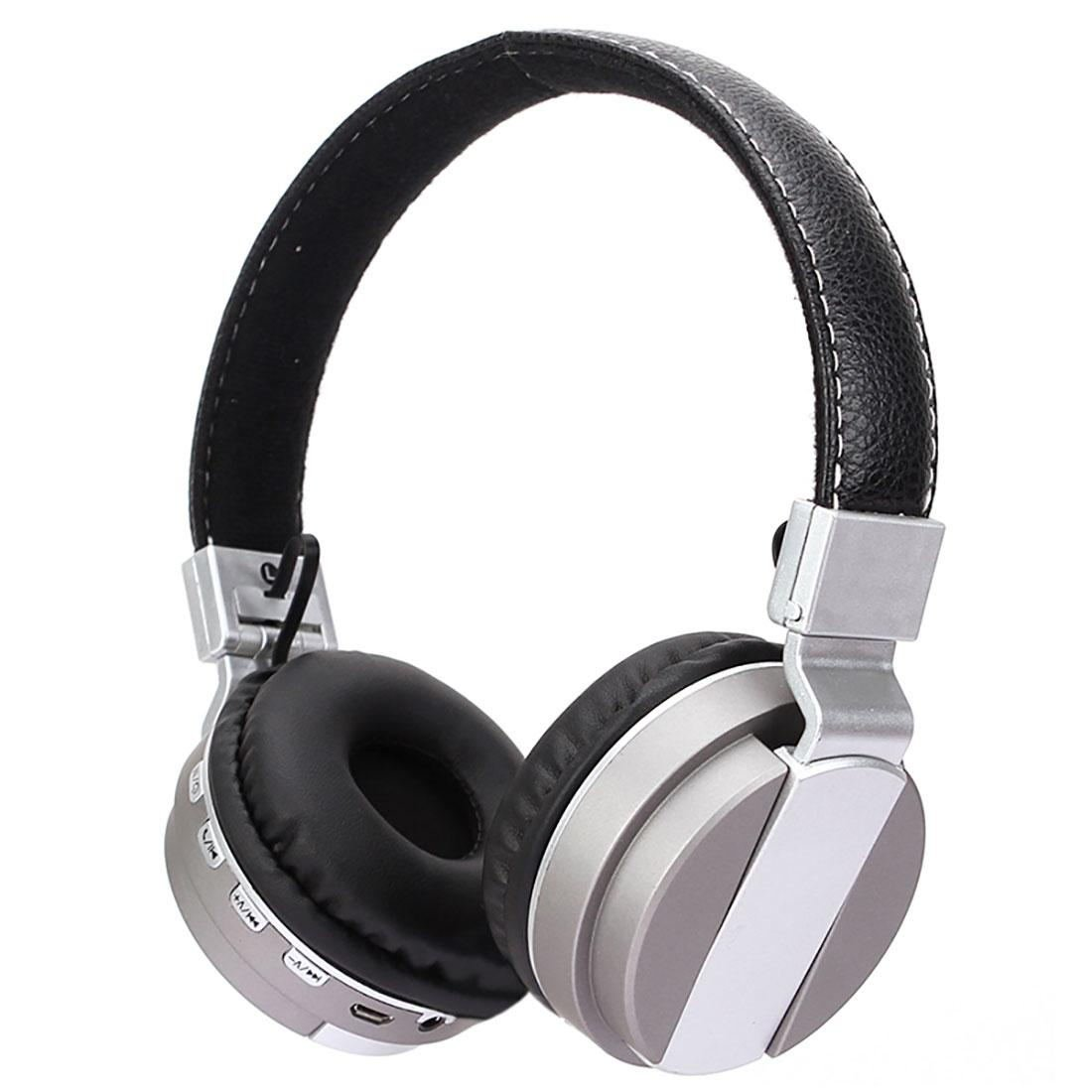 Headset Computer Headset High Quality Folding Stereo Bluetooth Headset B29 Silver