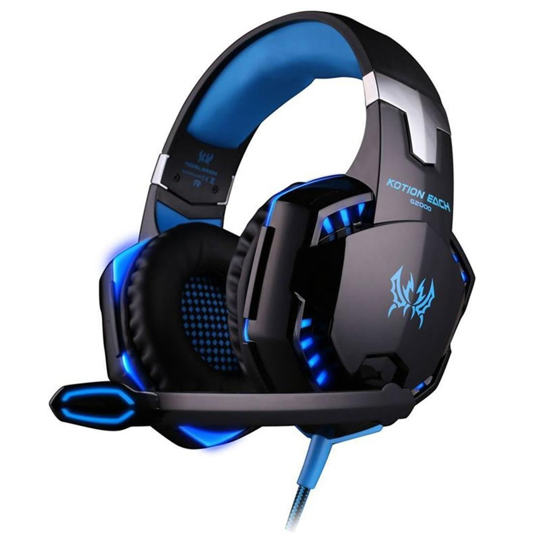 G2000 Lightweight Ergonomic Design Gaming Headset Luminous Headphones With Mic
