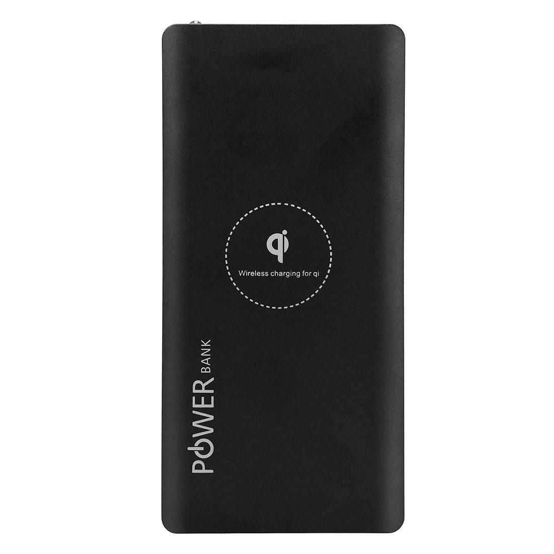 CHENSHENGYUE Wireless Charging Pad Wireless Charger Qi Standard 10000mAh Power Bank Black