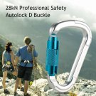 25kN Professional Safety D Buckle Autolock Self Locking Aluminum Carabiner for Outdoor Survival