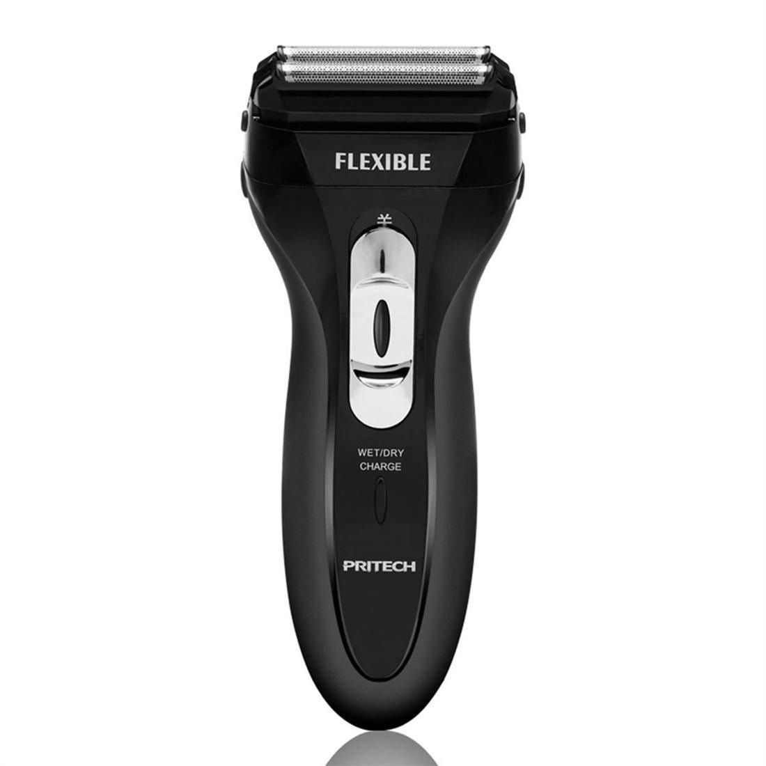 PRITECH RSM-1308 Electric Shaver Dual Mesh Blades Washable Men Beard Trimmer