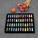 New creative nail sequins accessories 48 color set long thin thread flash powder hollow nail polish