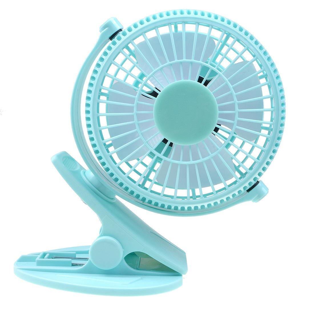 Lileng 835 Desktop Fan For Chlidren Chargeable Fan Clip Base 2 Speeds Mini Portable Fan