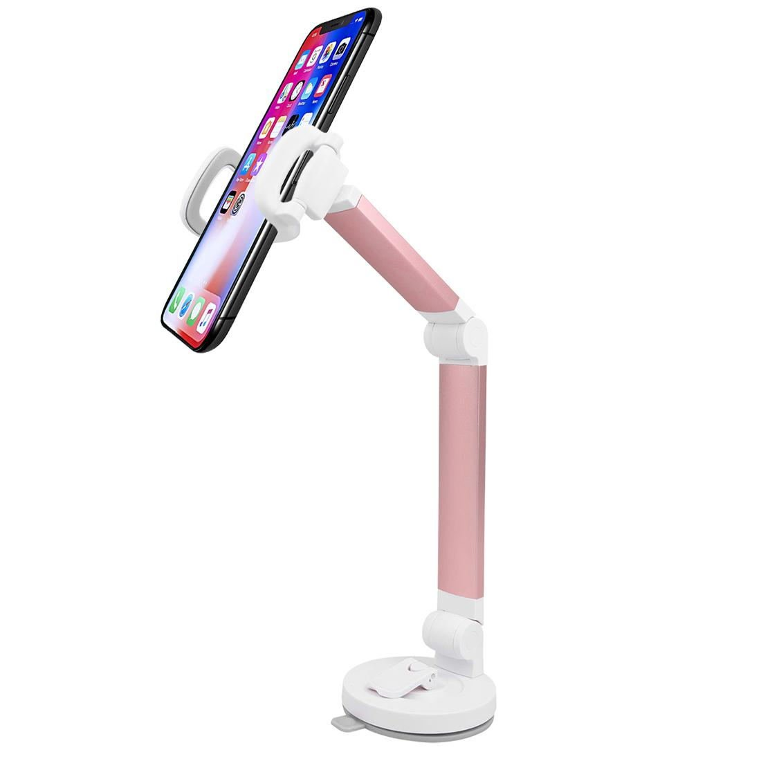 Universal Phone Holder Phone Stand Lazy Bracket Suction Cup Holder Rose Red