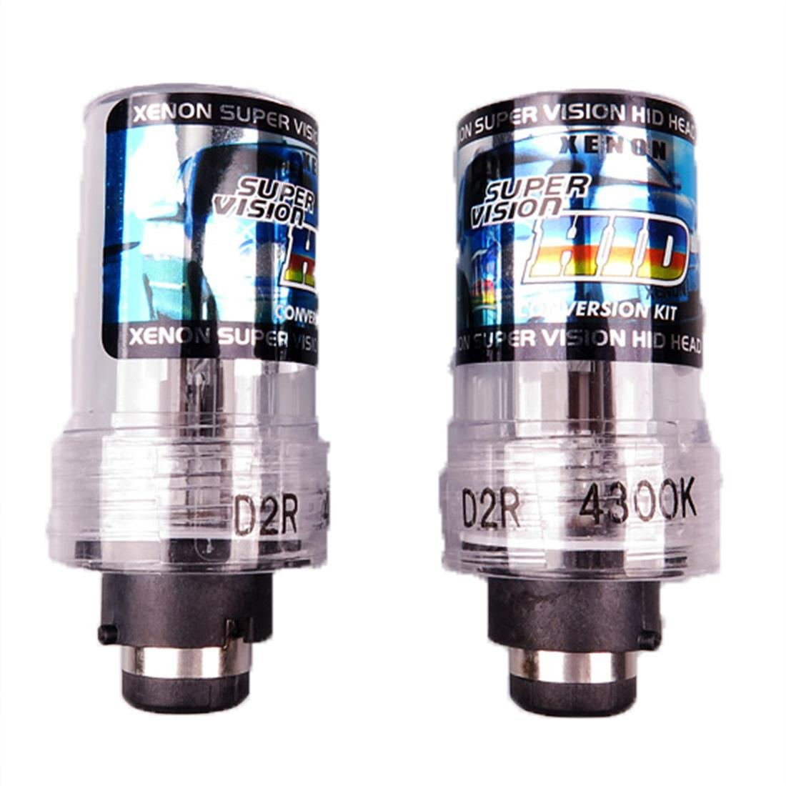 Lousunhid Car Accessory HID Xenon Headlamp Headlight 2 Lamp In 1 Pack D2R-6000K-35W