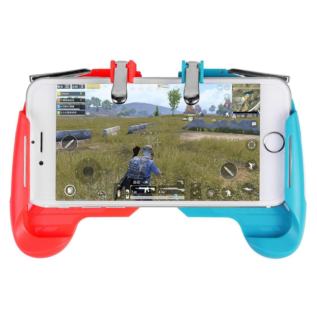 AK16 Phone Game Trigger Handle Grip Red&Blue