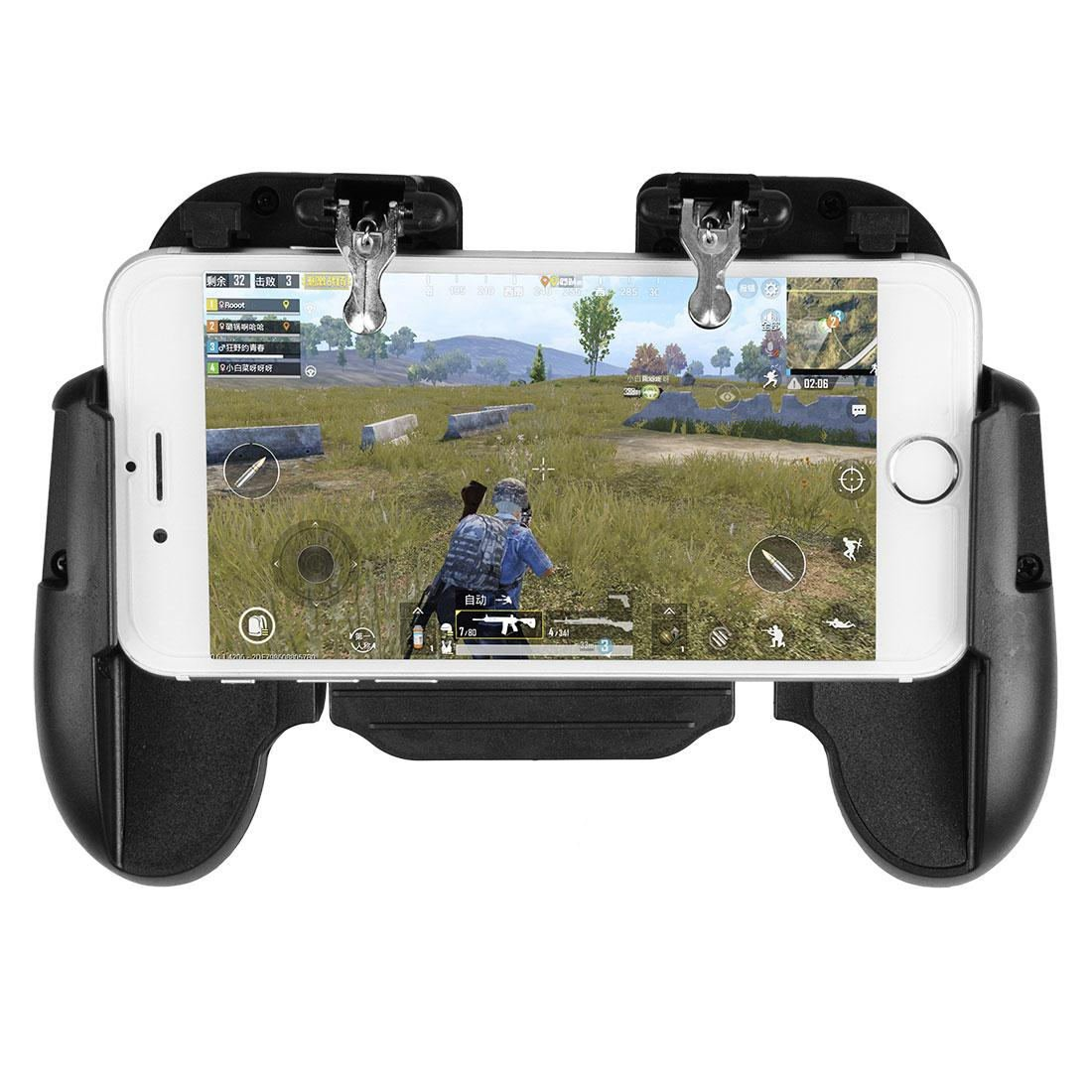 H5 Phone Game Trigger Handle Grip With Fan Black